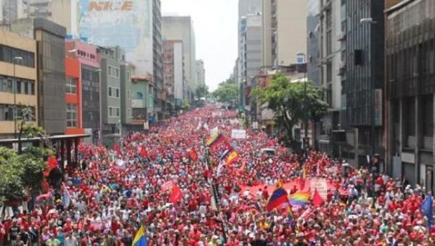caracas venezuela chavista march april 19